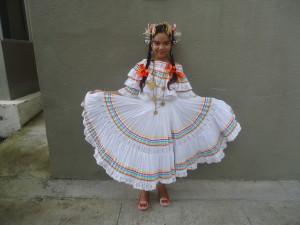 Typical folk dance dress