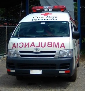 Ambulance light bar provided by McCormack Foundation