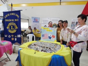 Lady Lions distributed donated eyeglasses.
